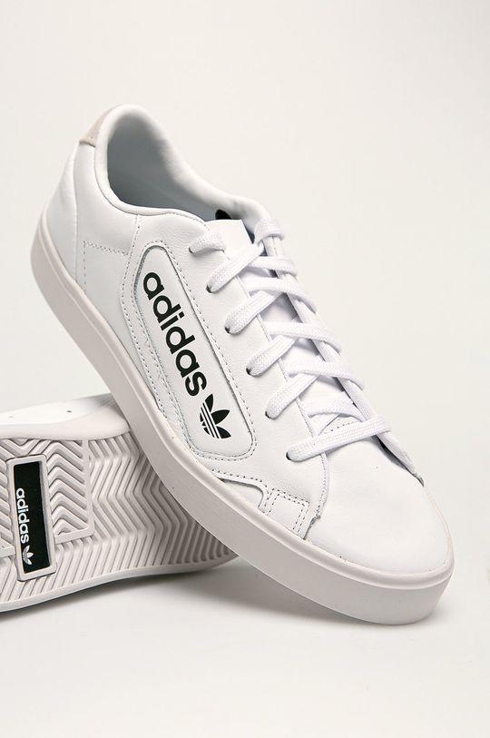 biela adidas Originals - Kožená obuv Sleek W