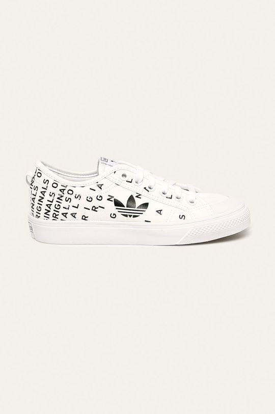 biela adidas Originals - Tenisky Nizza Trefoil Dámsky