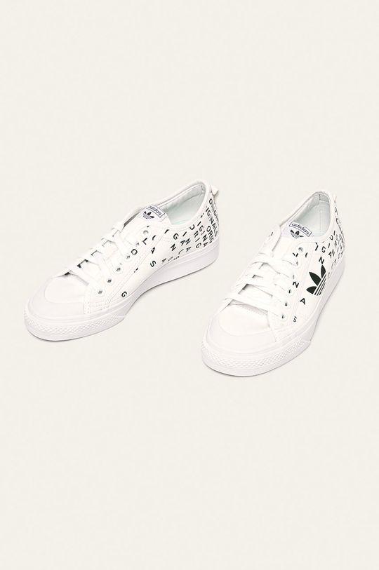 biela adidas Originals - Tenisky Nizza Trefoil
