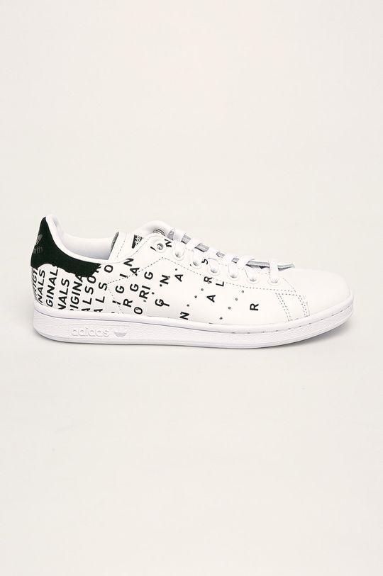 alb adidas Originals - Ghete de piele Stan Smith De femei