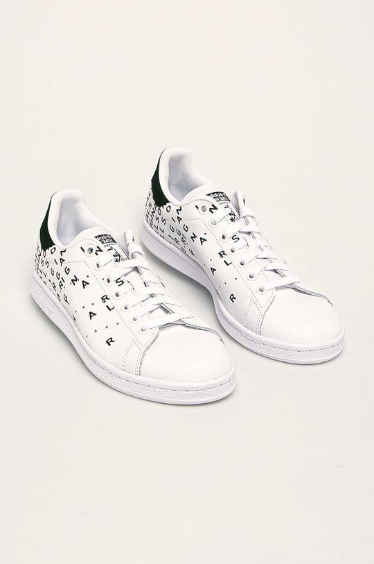 adidas Originals - Ghete de piele Stan Smith alb