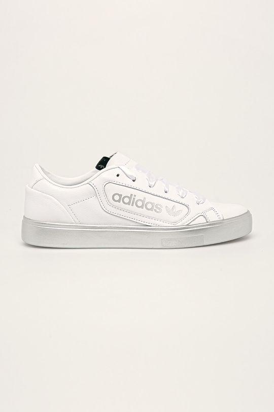 biały adidas Originals - Buty skórzane Sleek Damski