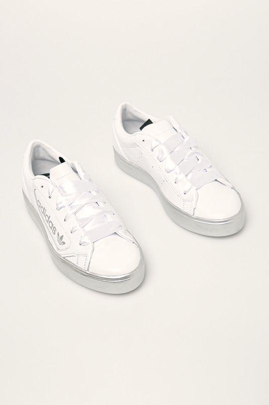 adidas Originals - Buty skórzane Sleek biały