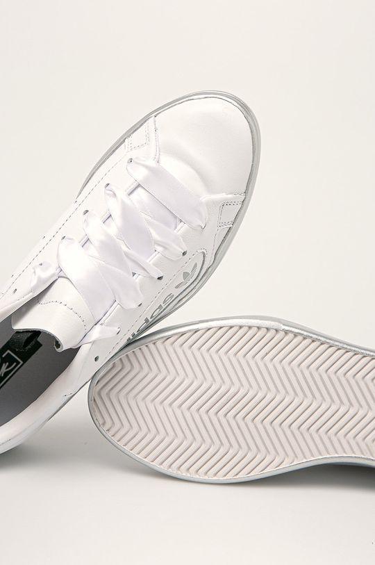 biały adidas Originals - Buty skórzane Sleek