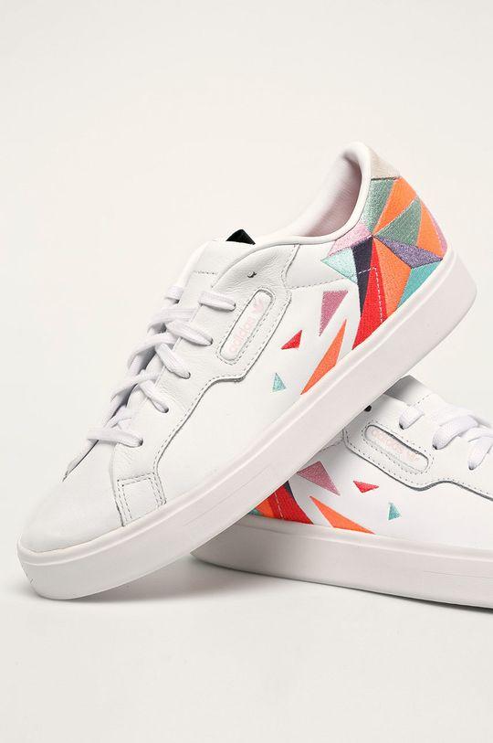 alb adidas Originals - Pantofi Sleek W
