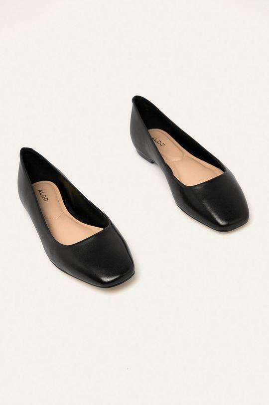 Aldo - Kožené baleríny Bridgette černá