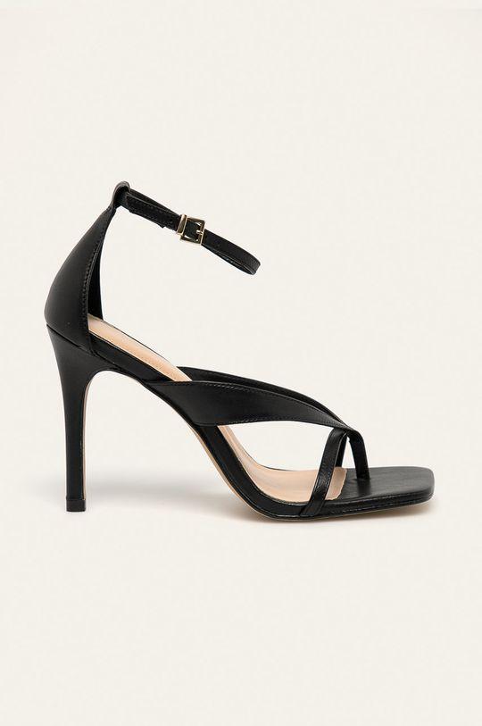 černá Aldo - Kožené sandály Lexie Dámský