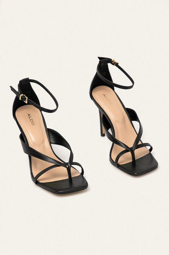 Aldo - Kožené sandály Lexie černá