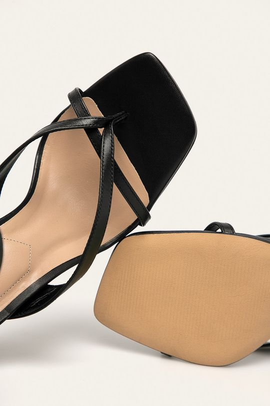 černá Aldo - Kožené sandály Lexie