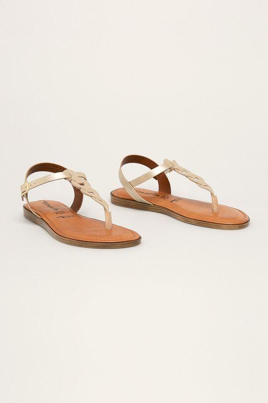 Tamaris - Sandale de piele aur