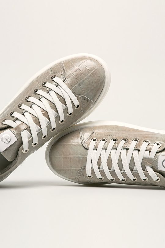 svetlosivá Tamaris - Kožená obuv
