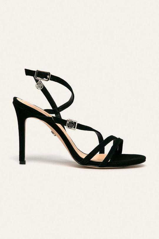 negru Solo Femme - Sandale de piele De femei