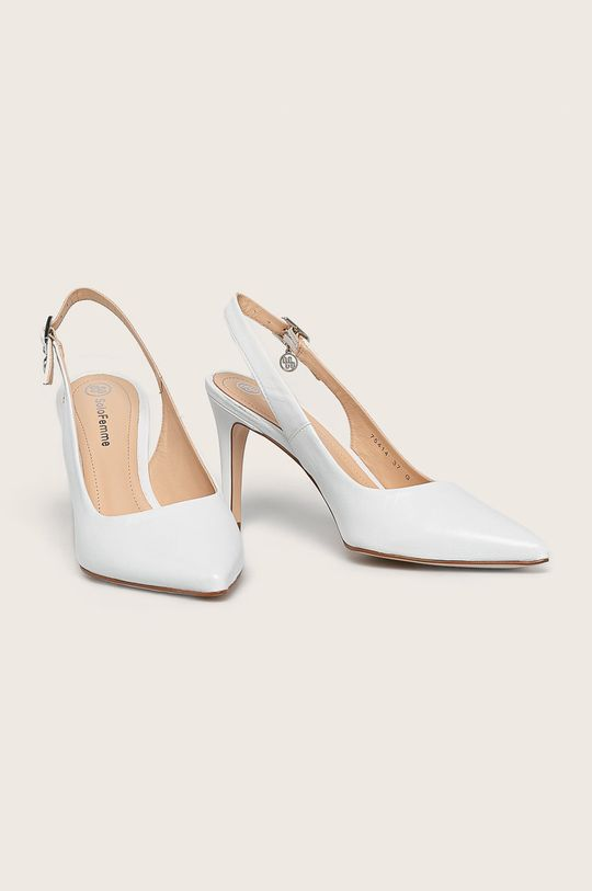 Solo Femme - Кожени стилети бял