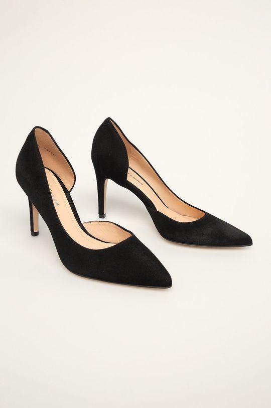 Solo Femme - Шкіряні туфлі чорний