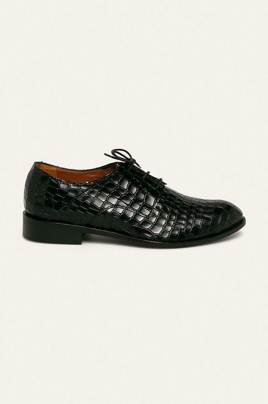 negru Solo Femme - Pantofi de piele De femei