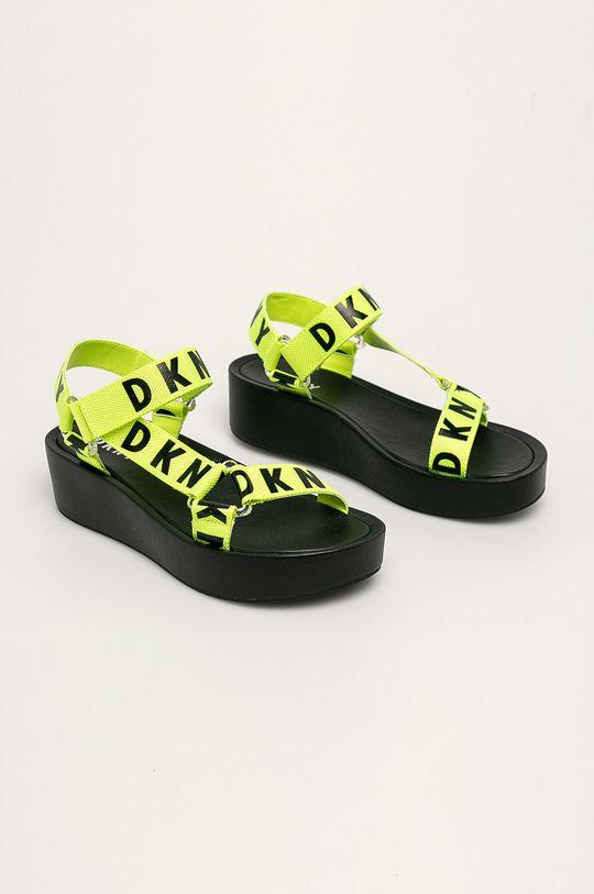 Dkny - Sandały żółto - zielony