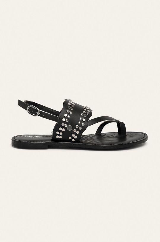 negru Pepe Jeans - Sandale de piele March Studs De femei
