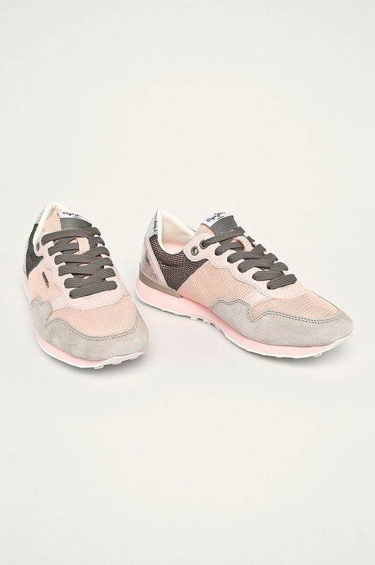 Pepe Jeans - Pantofi Bimba Mesh roz rosu