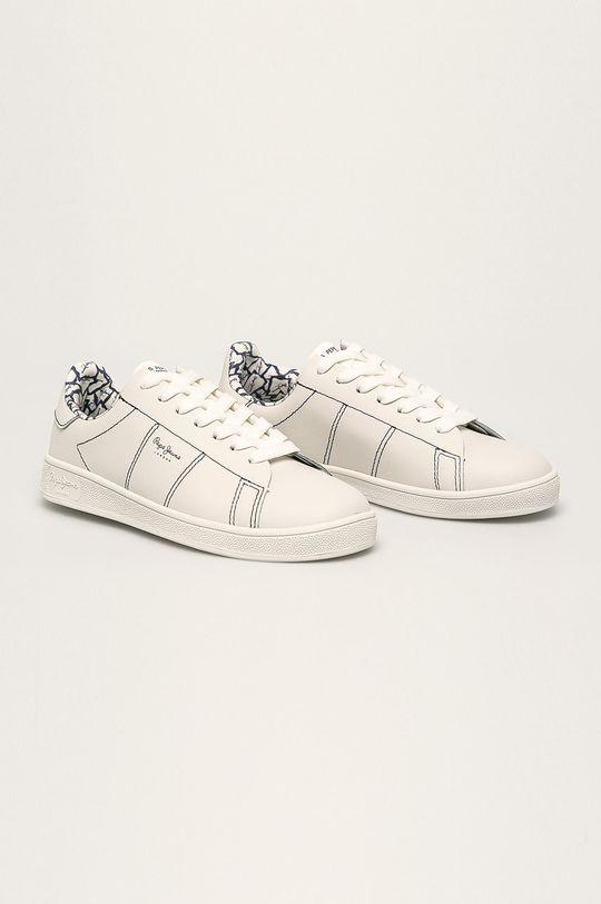 Pepe Jeans - Шкіряні черевики Brompton Stitching темно-синій
