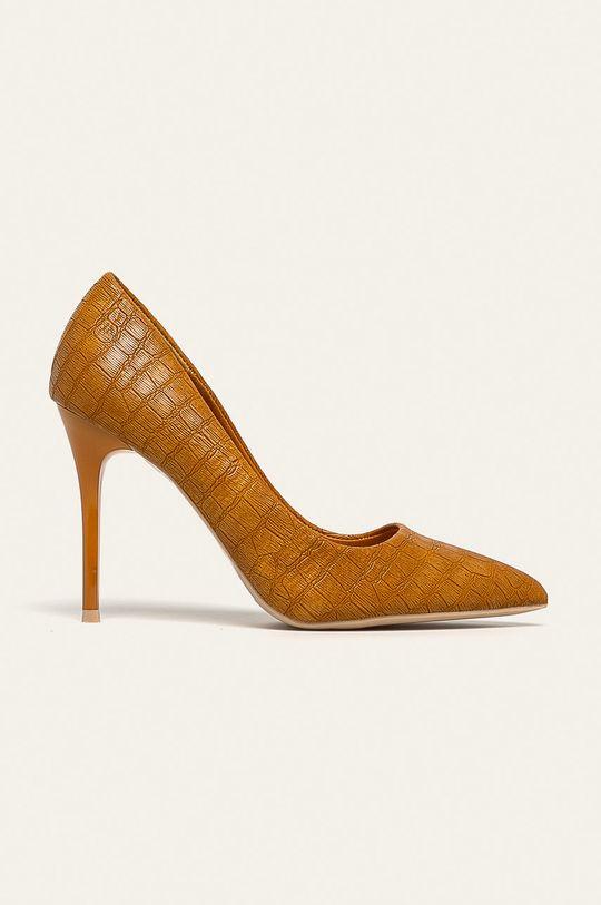 galben Glamorous - Pantofi cu toc De femei