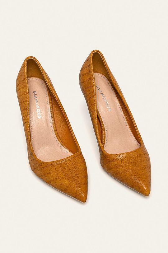 Glamorous - Pantofi cu toc galben