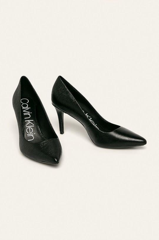 Calvin Klein - Kožené lodičky černá