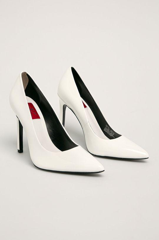 Calvin Klein - Kožené lodičky bílá
