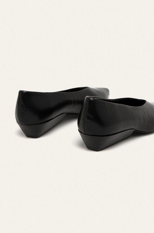 černá Calvin Klein - Kožené baleríny