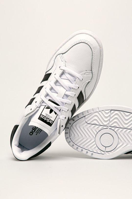 bílá adidas Originals - Boty Team Court Ftwwht