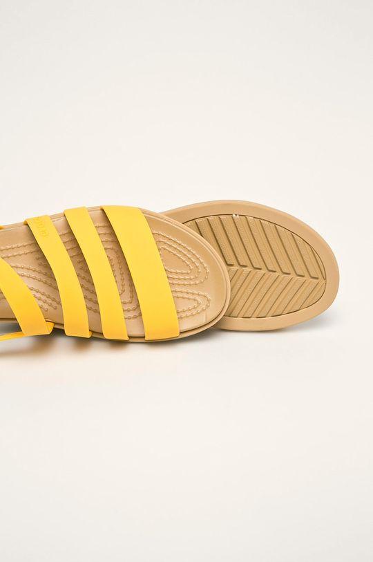 żółty Crocs - Sandały