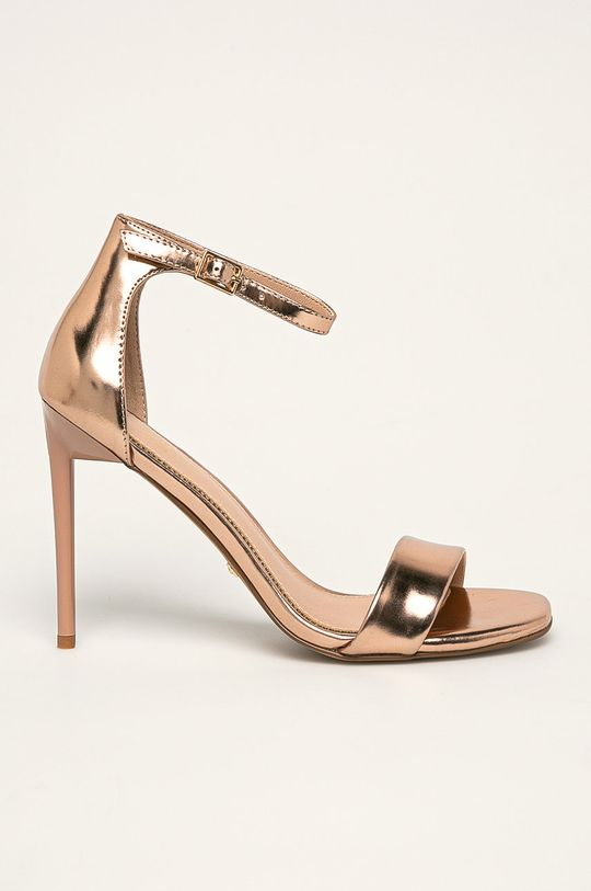 zlatá Marciano Guess - Kožené sandále Dámsky