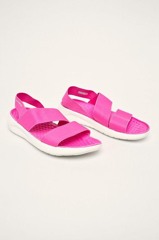 Crocs - Sandały ostry różowy