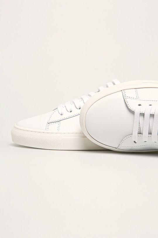 bílá Patrizia Pepe - Kožené boty