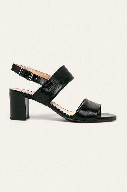 чорний Caprice - Шкіряні сандалі Жіночий