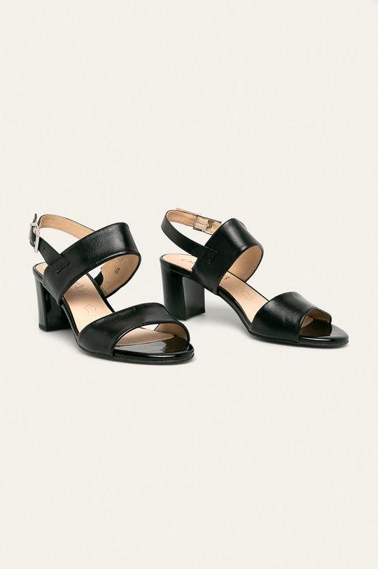 Caprice - Шкіряні сандалі чорний