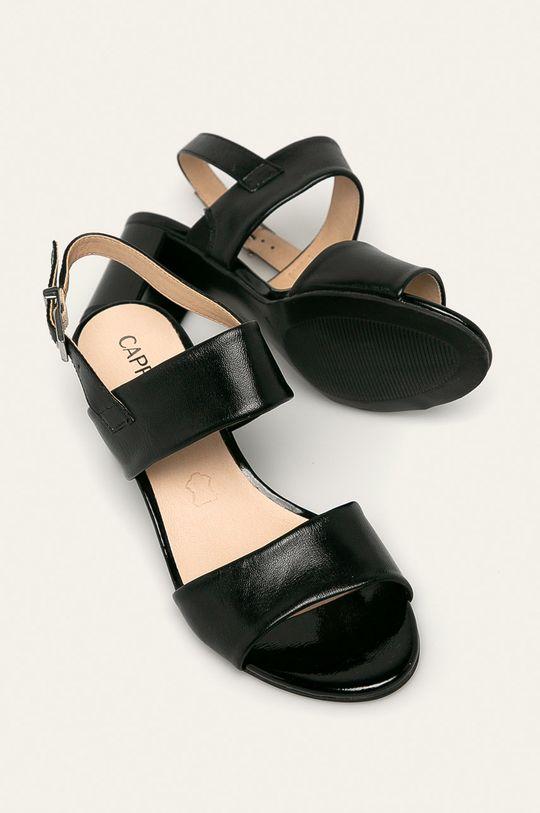 чорний Caprice - Шкіряні сандалі