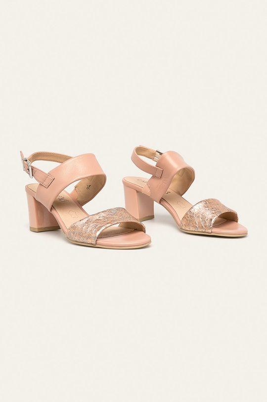 Caprice - Sandale de piele roz rosu