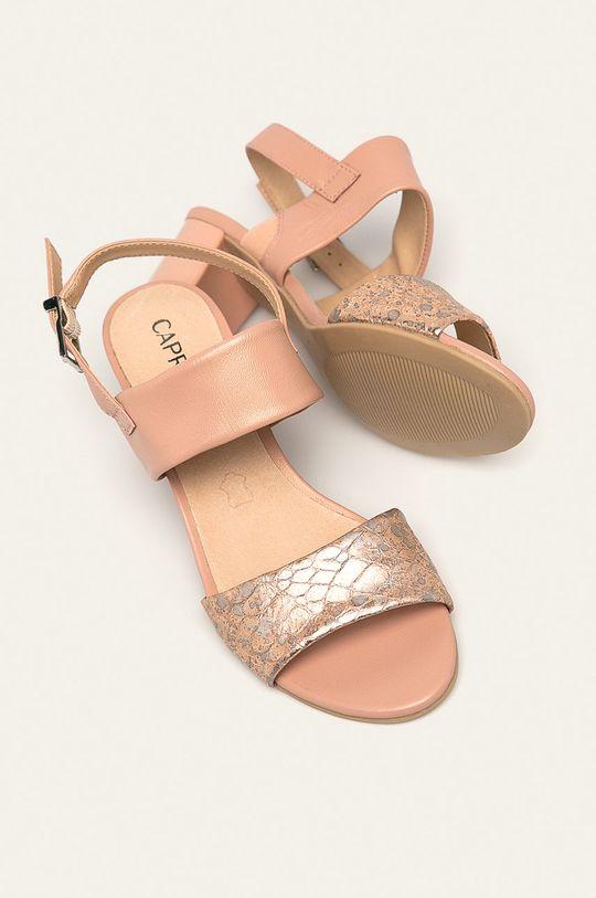 roz rosu Caprice - Sandale de piele