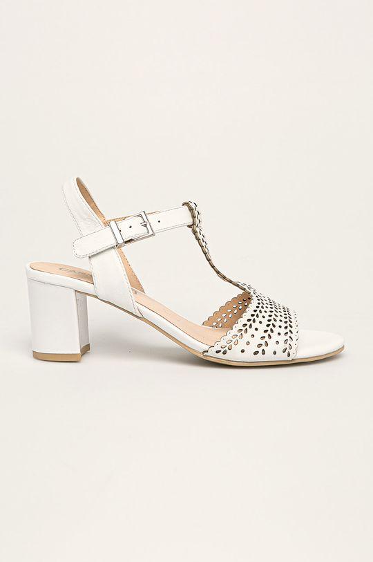 biały Caprice - Sandały skórzane Damski