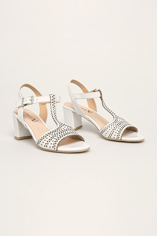 Caprice - Sandały skórzane biały