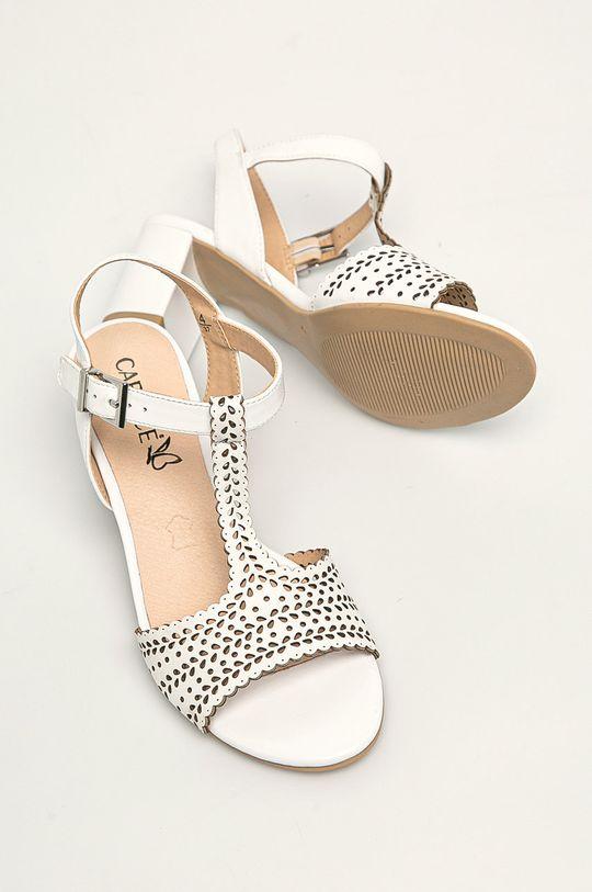 biały Caprice - Sandały skórzane
