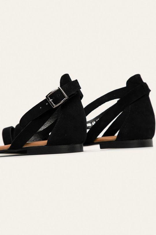 Wojas - Sandały skórzane Cholewka: Skóra zamszowa, Wnętrze: Skóra naturalna, Podeszwa: Materiał syntetyczny
