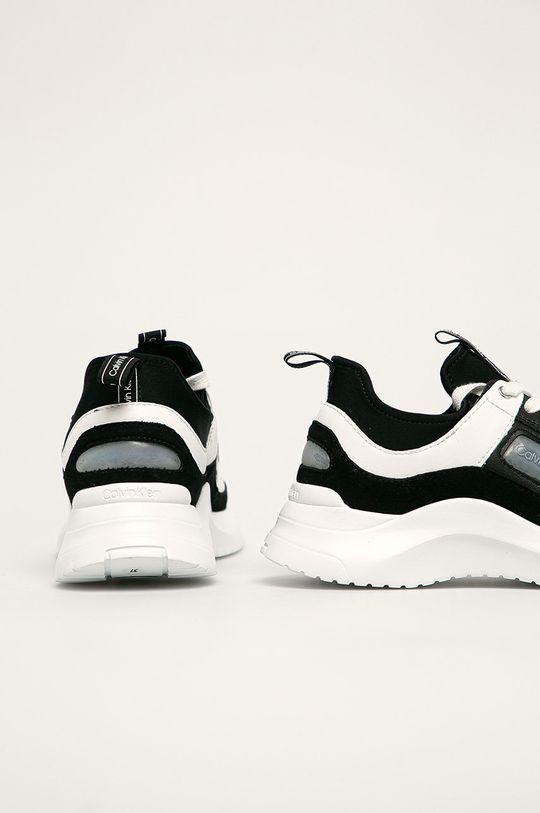 Calvin Klein - Buty Cholewka: Materiał tekstylny, Skóra naturalna, Wnętrze: Materiał syntetyczny, Materiał tekstylny, Podeszwa: Materiał syntetyczny