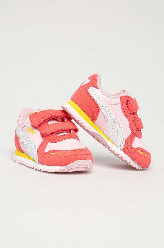 Puma - Dětské boty Cabana Racer SL V Inf růžová