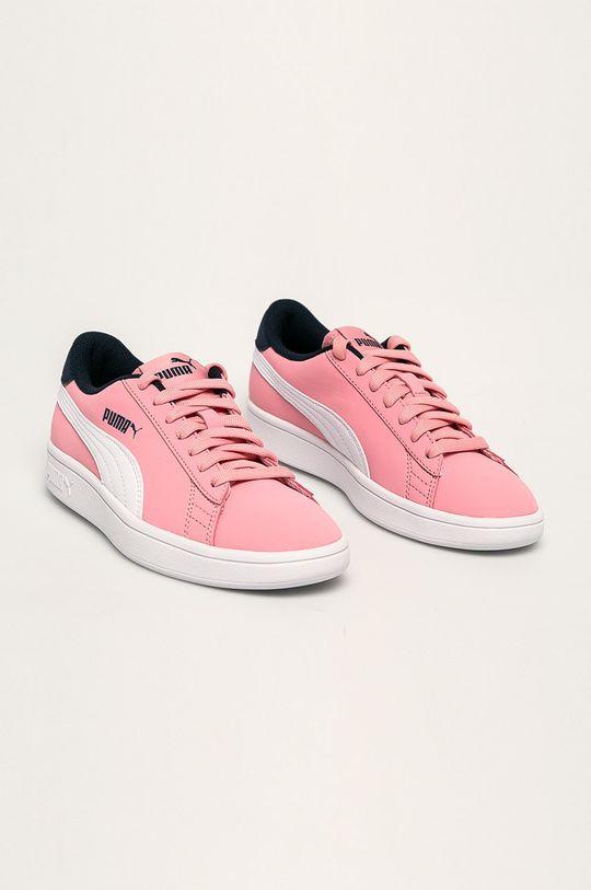 Puma - Pantofi copii Smash v2 Buck roz