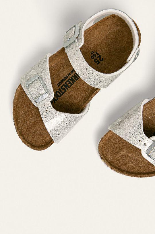 srebrny Birkenstock - Sandały dziecięce Rio Plain