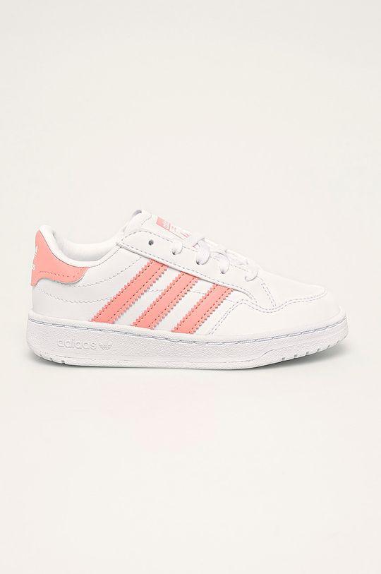 alb adidas Originals - Pantofi copii Team Court De fete