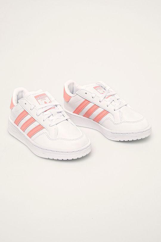 adidas Originals - Detské topánky Team Court biela