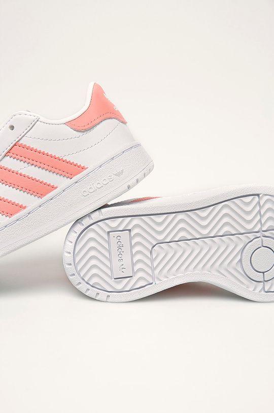 biela adidas Originals - Detské topánky Team Court