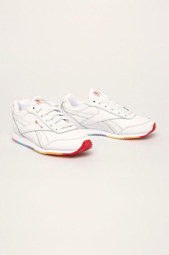 Reebok Classic - Detské topánky Royal CLJOG 2 biela